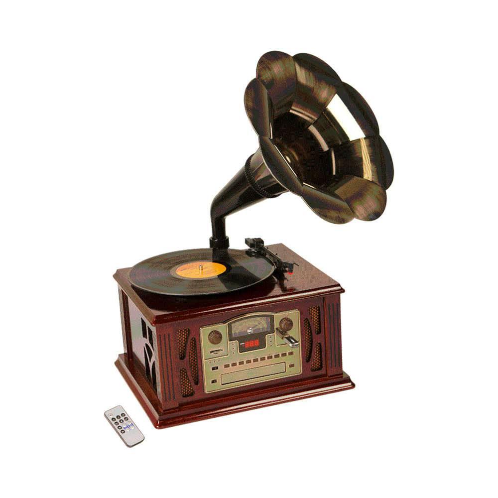 Gramophone Sierra Marrom com Controle Remoto - 33x29 cm