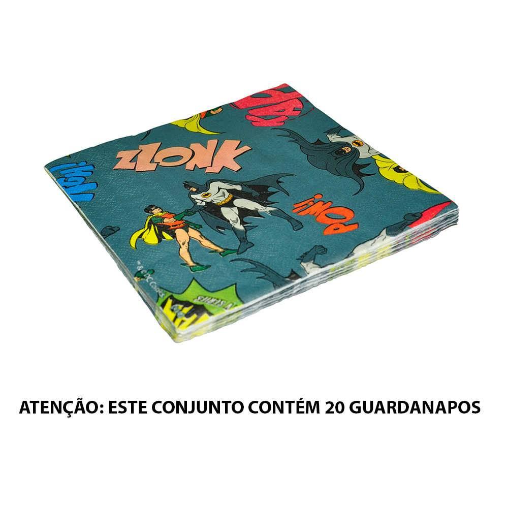 Guardanapos DC Comics Batman And Robin Onomatopeias - Urban - 16,5x16,5 cm