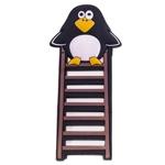 Ímã Decorativo Pinguim na Escada em Borracha Imantada - 17x8 cm