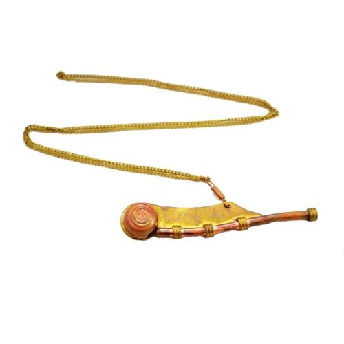 Instrumento Náutico Decorativo com Caixa em Madeira - 12,5x5 cm