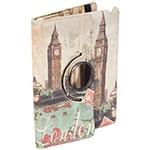 Case para Ipad London Oldway Bege em PU - 25x20 cm