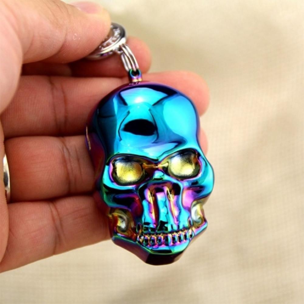 Isqueiro Elétrico Skull Holoágrafica em Metal - 8x4 cm