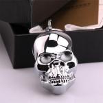 Isqueiro Elétrico Skull Prata em Metal - 8x4 cm