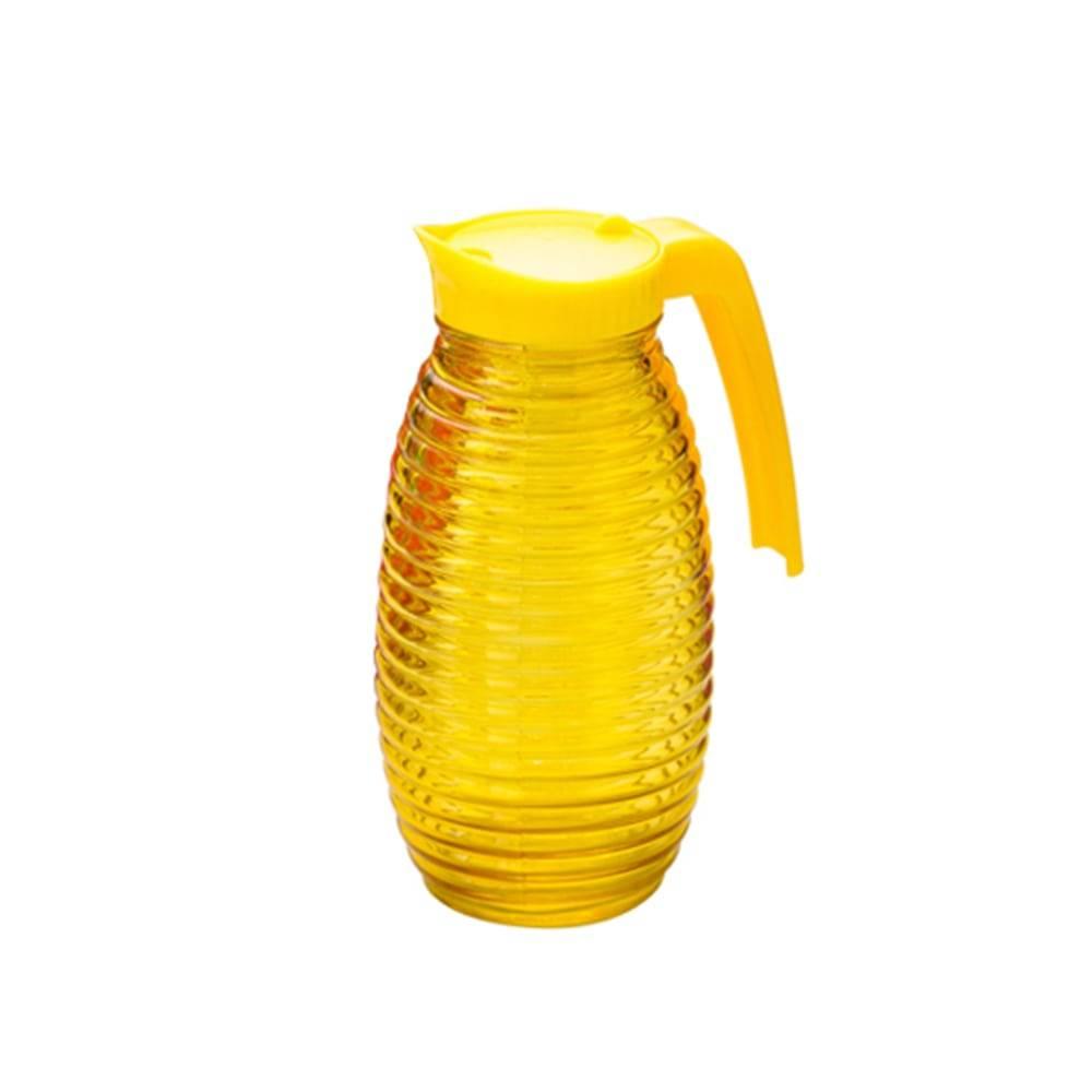 Jarra Colmeia em Vidro Amarela - 1 Litro - Lyor Design