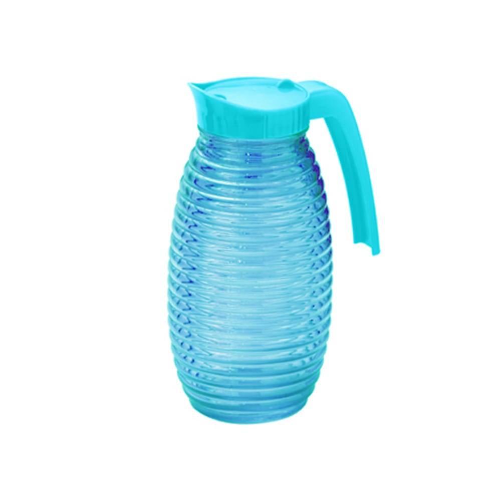 Jarra Colmeia em Vidro Azul - 1 Litro - Lyor Design