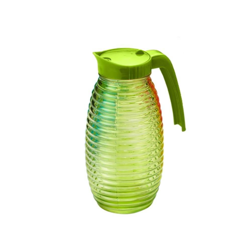 Jarra Colmeia em Vidro Verde - 1 Litro - Lyor Design