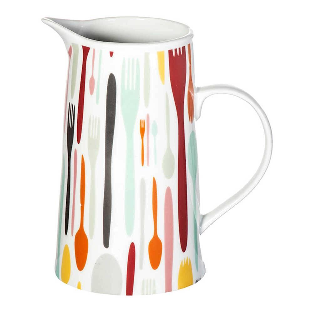 Jarra Cutlery 1 Litro Colorida em Porcelana - Urban - 18x8 cm