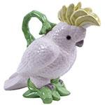 Jarra Decorativa Calopsita em Cerâmica - 30x28 cm