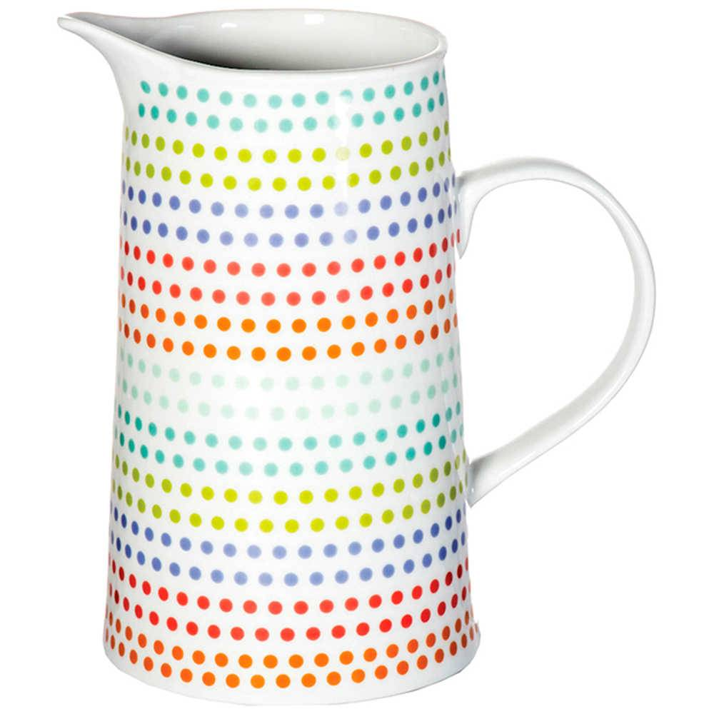 Jarra Dots 1 Litro Colorido em Porcelana - Urban - 19x8 cm