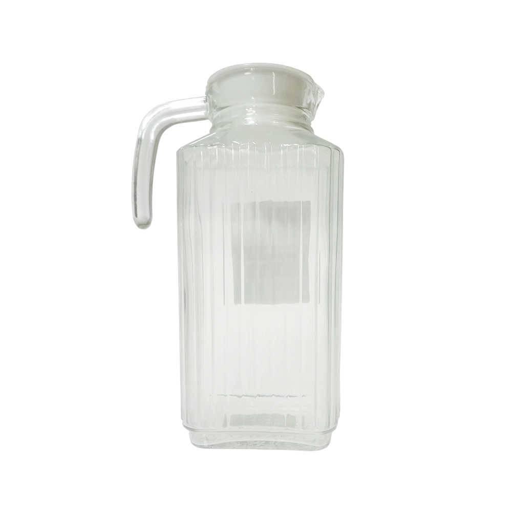 Jarra Tradicional 1750 ml Transparente com Tampa em Vidro - 25,5x8,5 cm