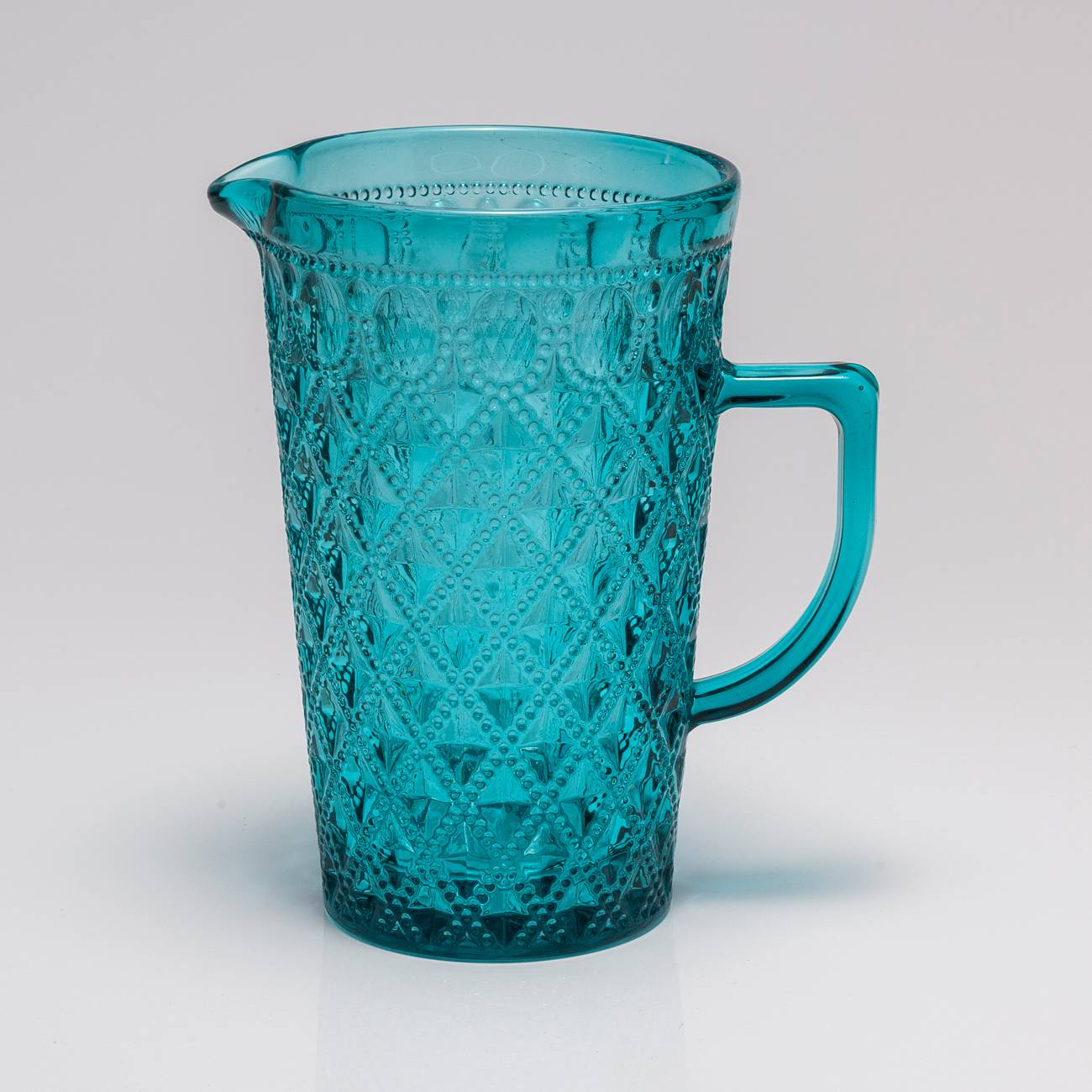 Jarra Diamond Azul - 1140 ml - em Vidro - Bon Gourmet