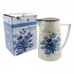Jarra Blue Dream - Finecasa - Azul/Branco em Porcelana - 18x16 cm