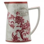 Jarra Oriental Manor - Finecasa - Vermelho e Branco em Porcelana - 18x16 cm