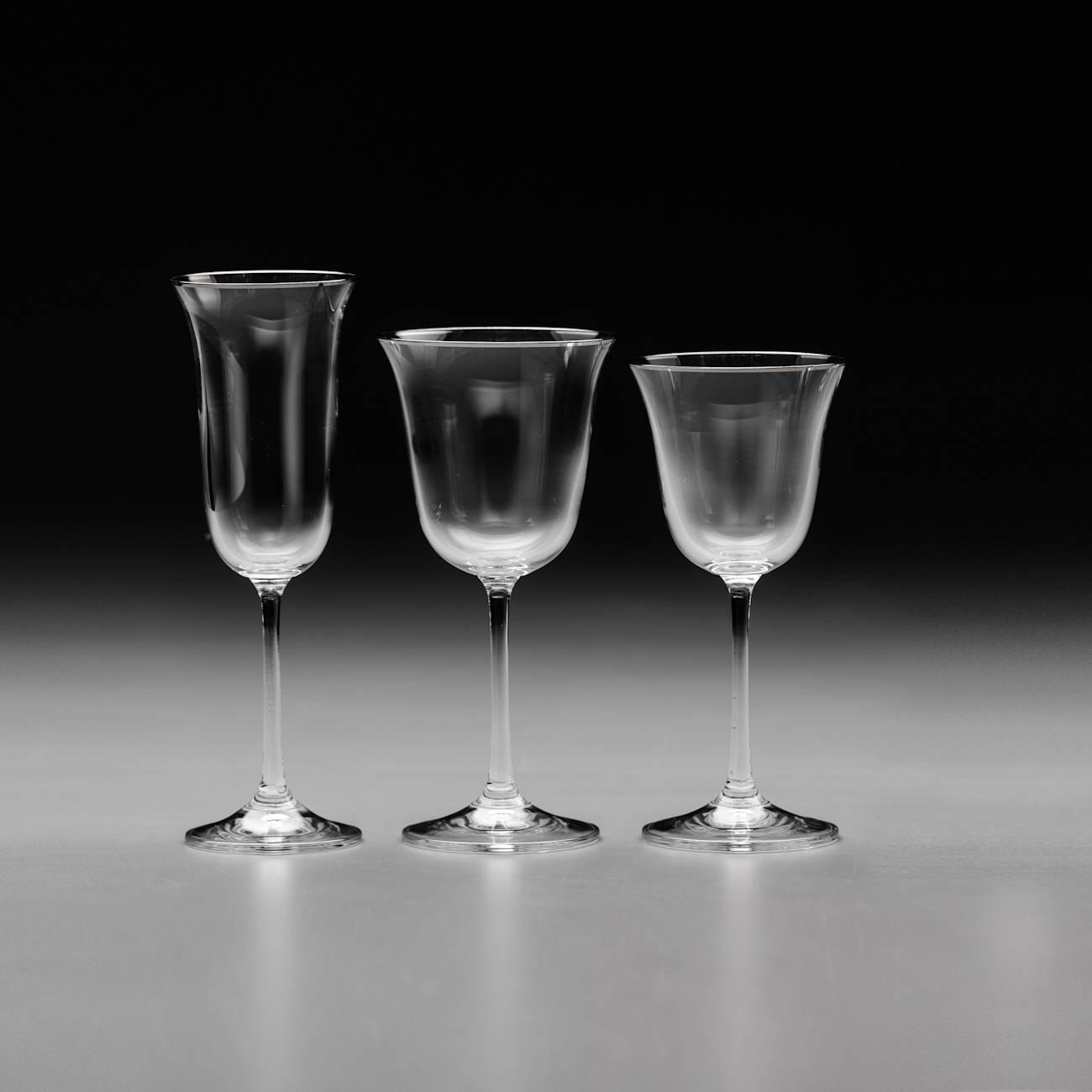 Conjunto de Taças Bell Platinum - 18 Peças - em Cristal - Bohemia