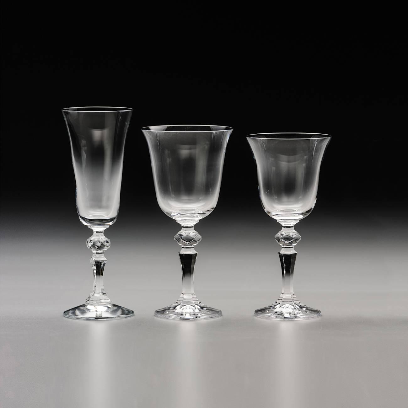 Conjunto de Taças Laura - 18 Peças - em Cristal - Rona