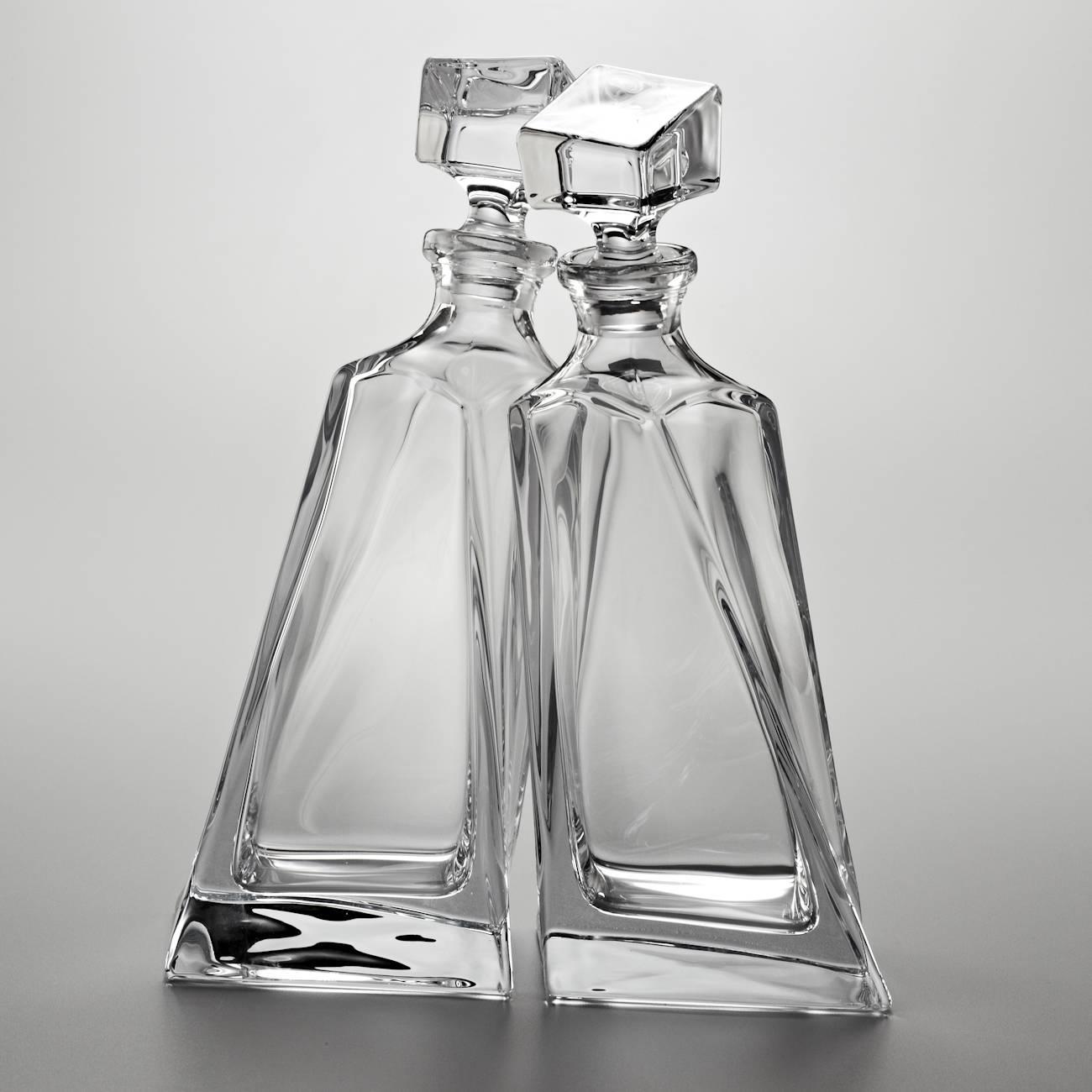Conjunto de Garrafas Lover - 2 peças - 600 ml - em Cristal - Bohemia Crystalite