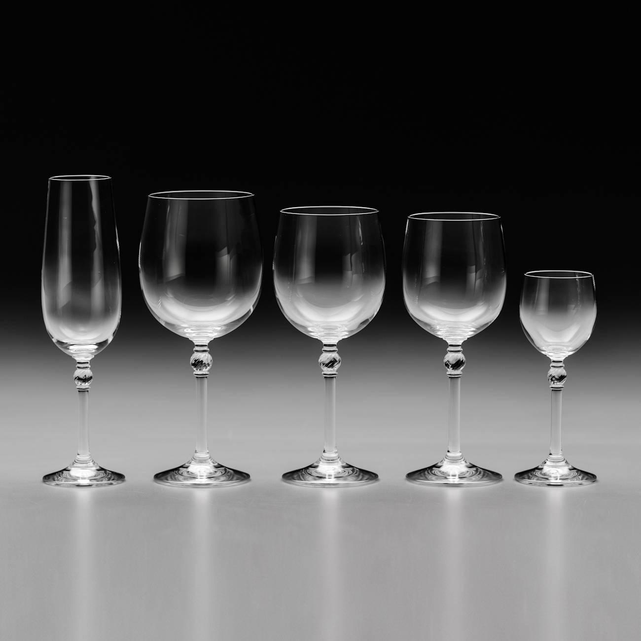 Conjunto de Taças Florence - 30 Peças - em Cristal - Bohemia