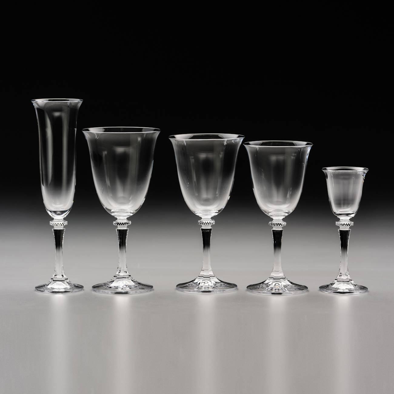 Conjunto de Taças Kleopatra - 30 peças - em Cristal - Bohemia