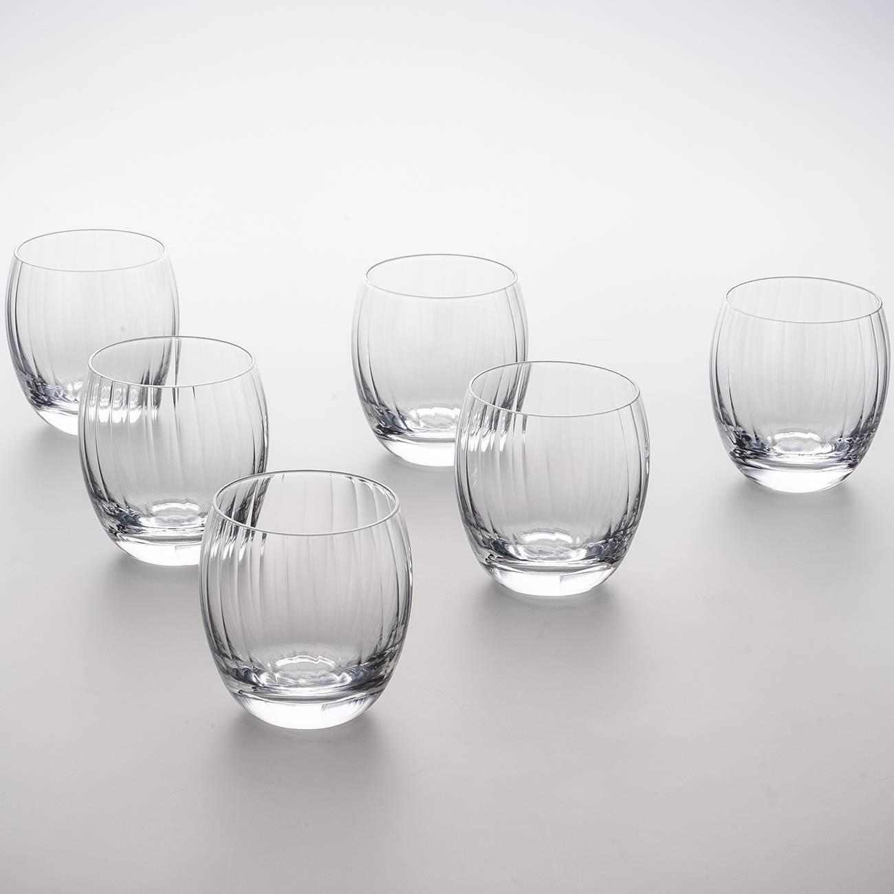 Conjunto 6 Copos para Whisky Ótico - 300 ml - em Cristal