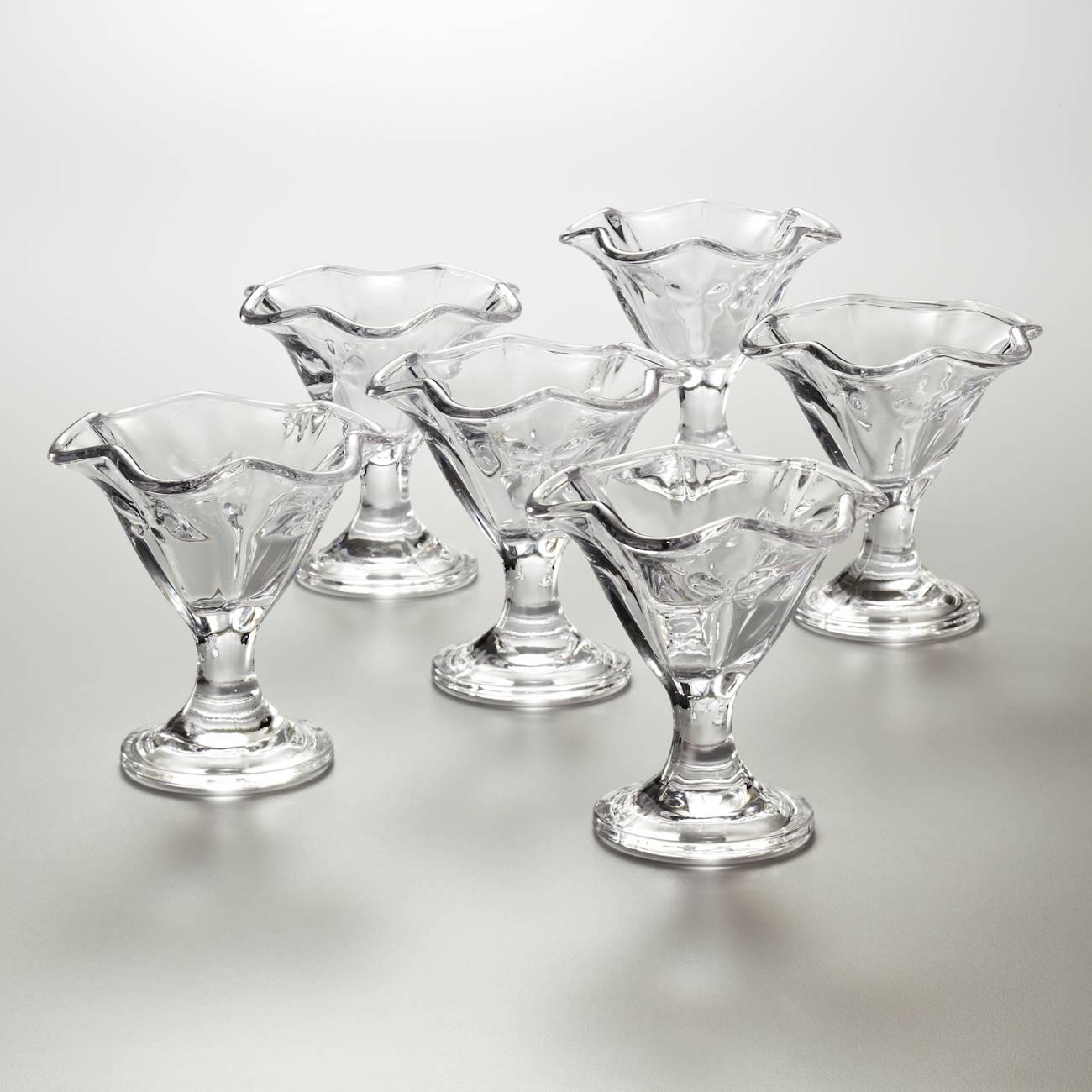 Conjunto de Taças para Sobremesa Borboleta 200 ml - 6 Peças - em Vidro - Bon Gourmet