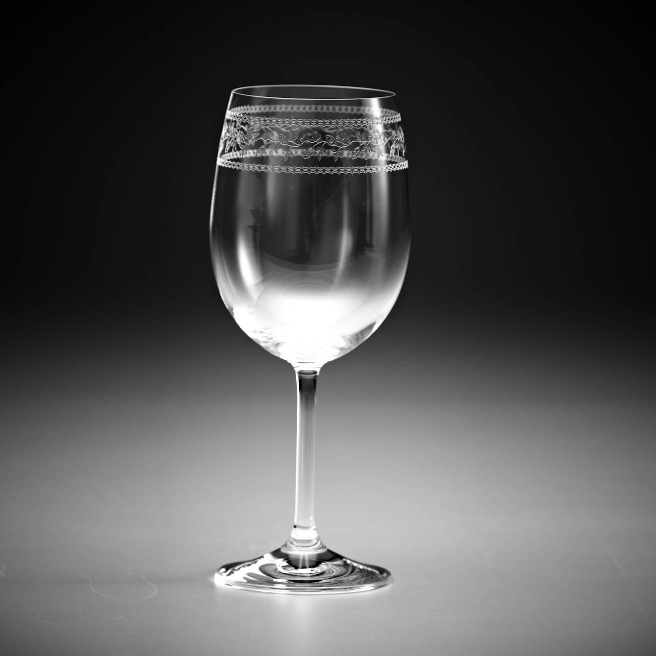 Conjunto de Taças para Vinho Branco Sara Pantografadas - 6 Peças - em Cristal - Rona