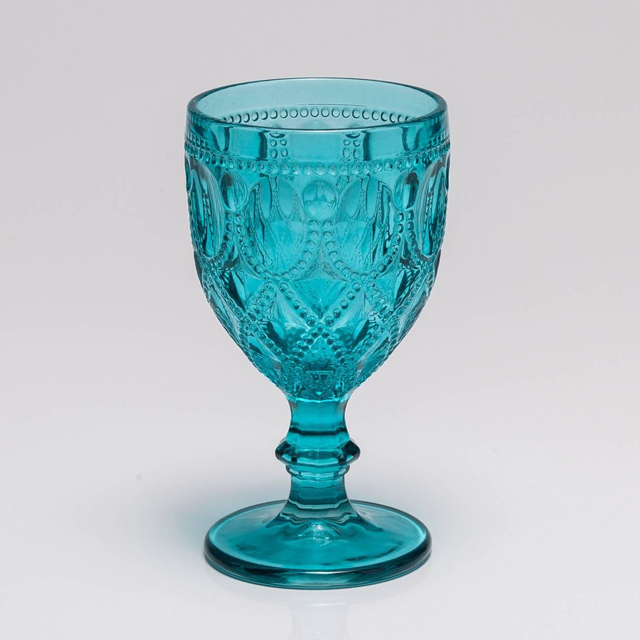 Conjunto de Taças para Água Diamonds Azul - 290 ml - em Vidro - Bon Gourmet