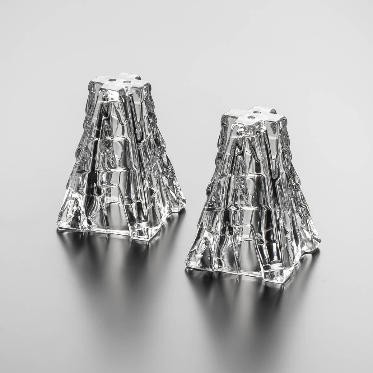 Jogo Saleiro e Pimenteiro Bari em Cristal - Wolff - 5,2x5,2 cm