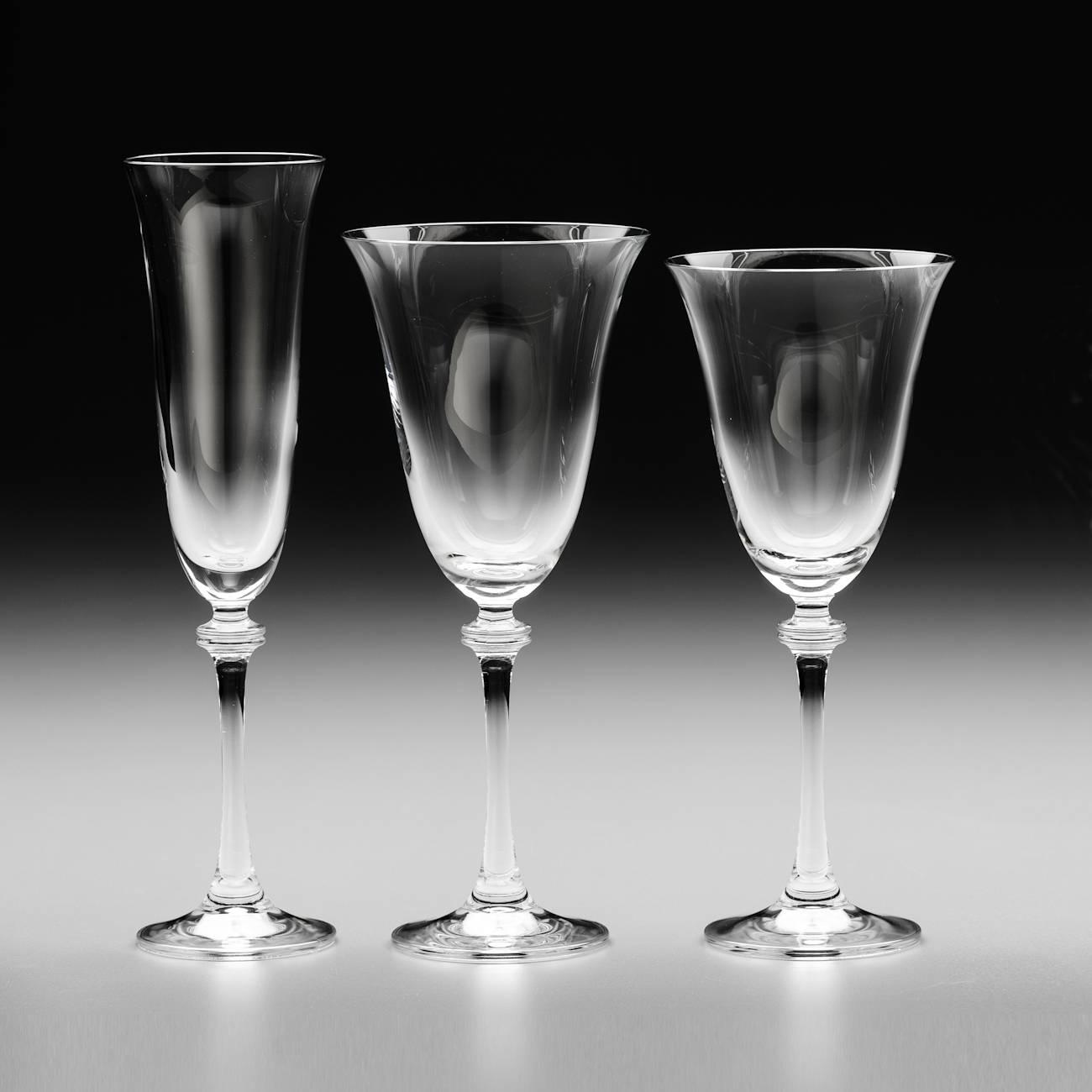 Conjunto de Taças Alexandra - 18 Peças - em Cristal - Bohemia