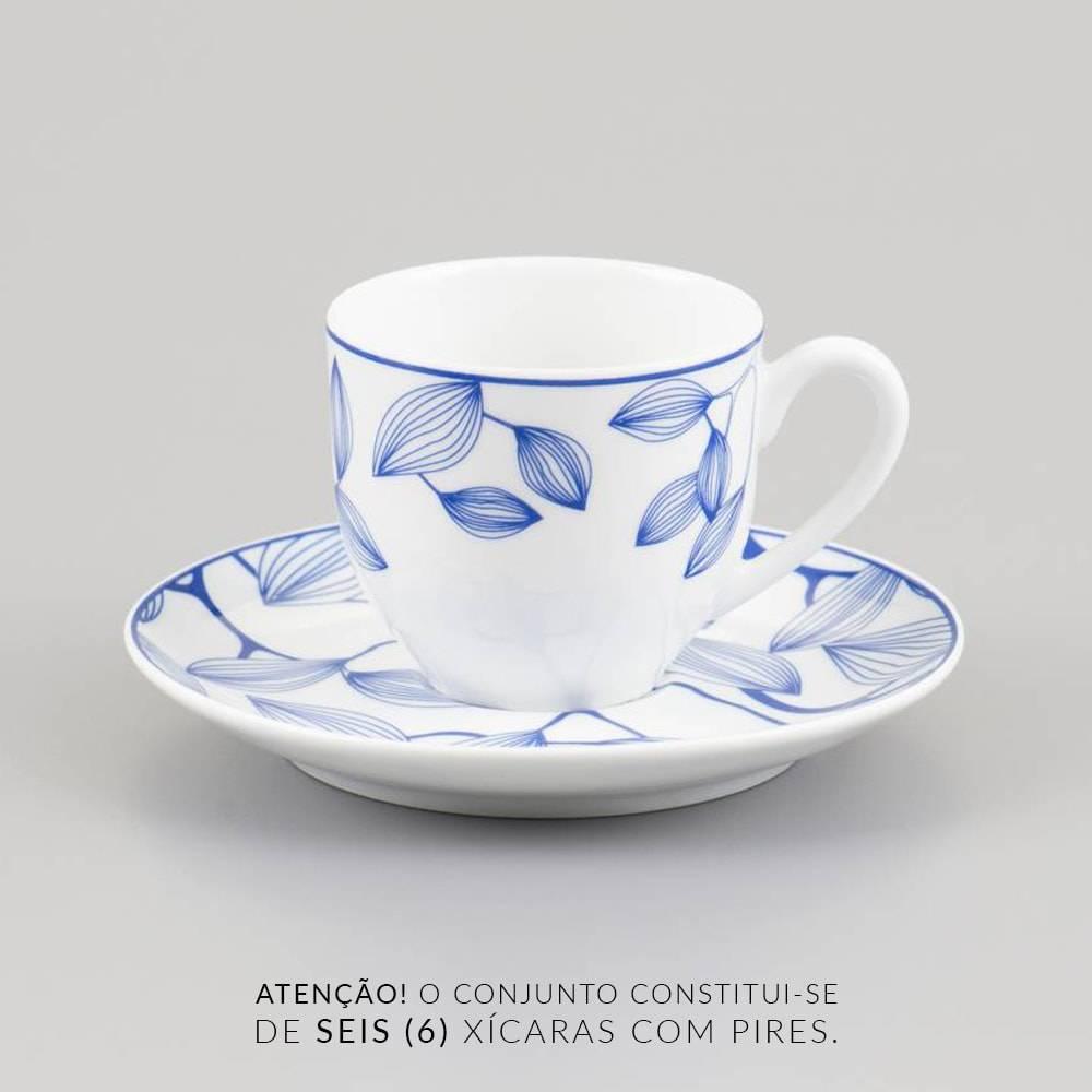 Jogo 6 Xícaras de Café com Pires Autumn Tree - 100 ml - em Porcelana