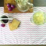 Jogo Americano Chevron Rosa e Branco em Algodão - 48x34,5 cm