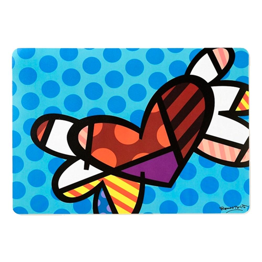 Jogo Americano Coração com Asas em Eucatex - 45x33 cm
