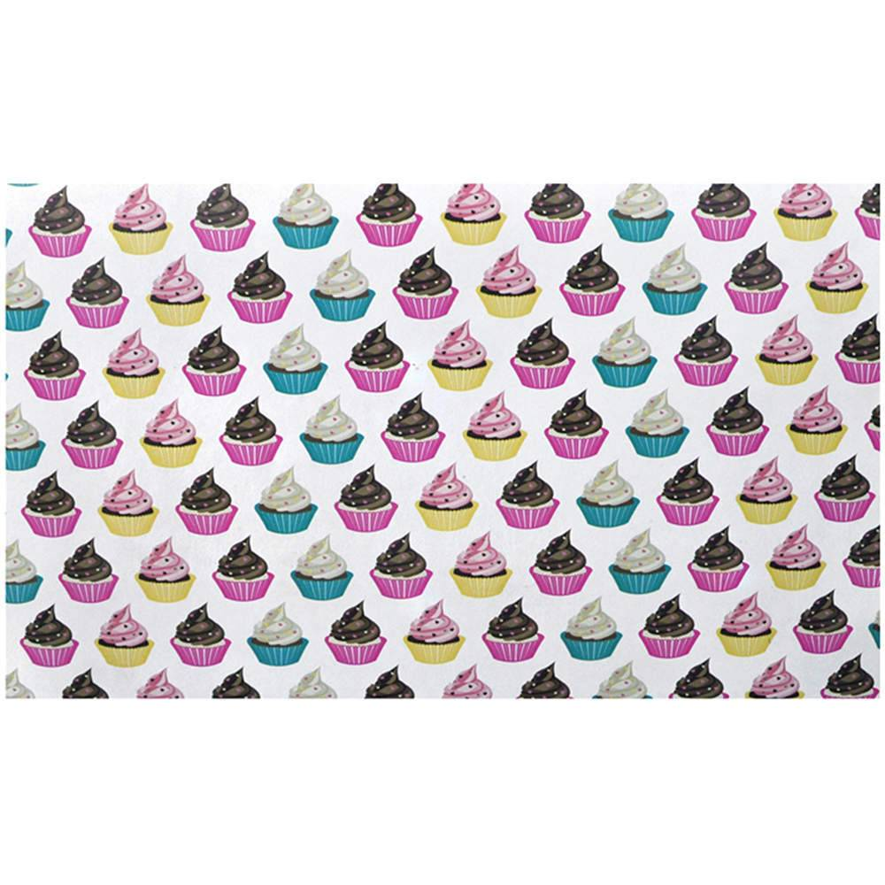 Jogo Americano Cupcake Colorido - 2 Peças - em MDF - Urban - 40x28 cm