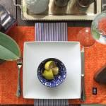 Jogo Americano Designer Laranja em Algodão - 48x34,5 cm