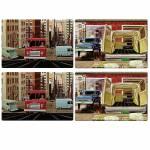 Jogo Americano GM Old Trucks Coloridos - 4 Peças - em PVC - Urban - 44x28,5 cm