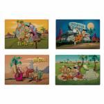 Jogo Americano Hanna Barbera Flintstones All Having Fun - 4 Peças - em PVC - Urban - 44x28,5 cm