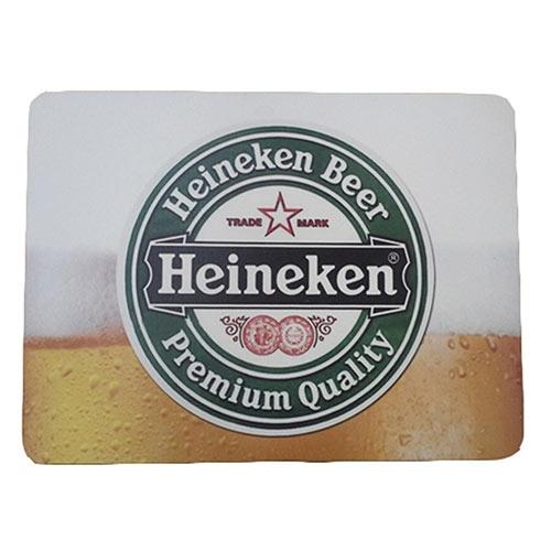 Jogo Americano Heineken Chopp em MDF - 30x40 cm