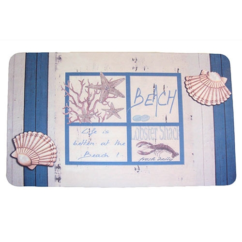 Jogo Americano Life is Better at the Beach em MDF - 30x40 cm