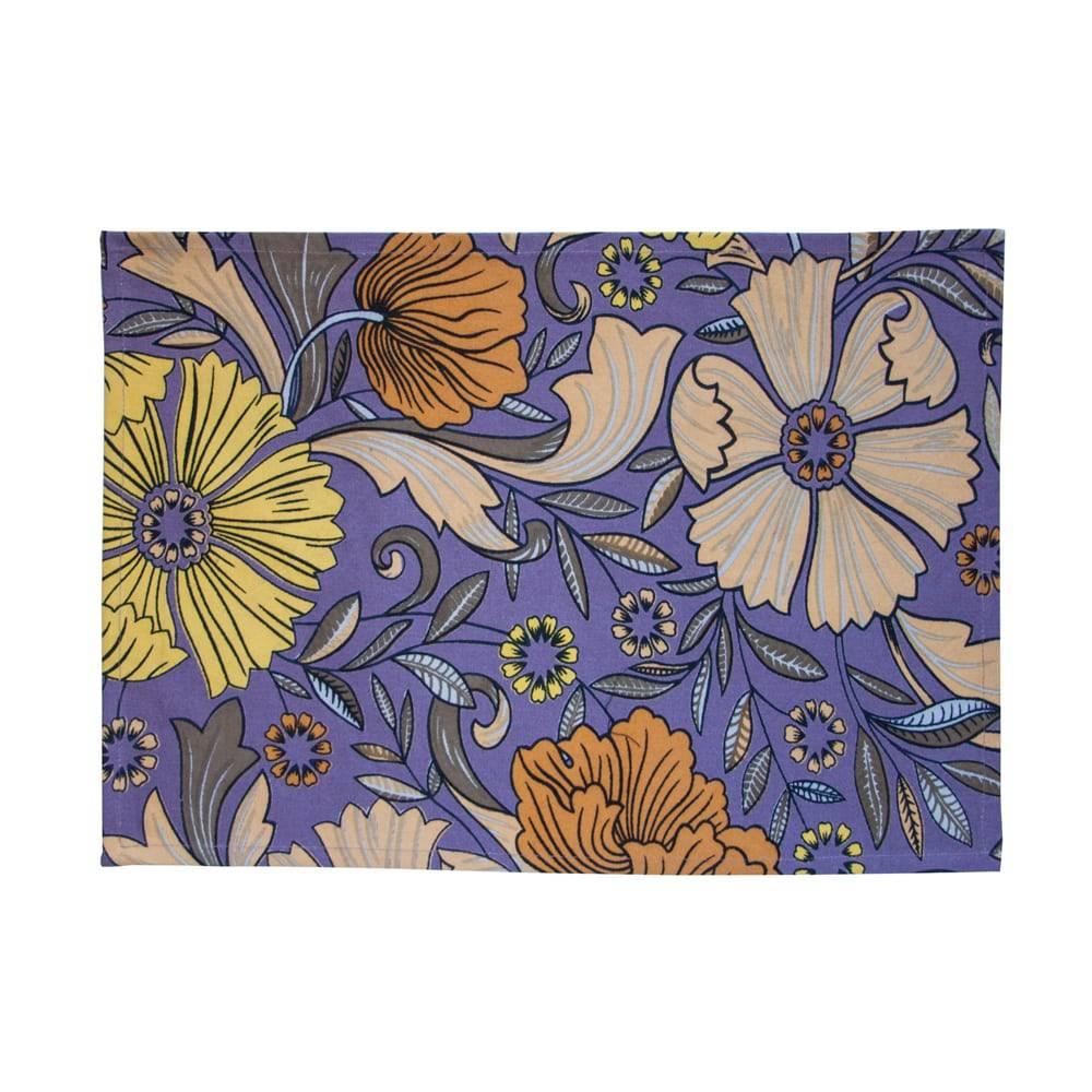 Jogo Americano Marguerita Colorido em Algodão - 48x33 cm