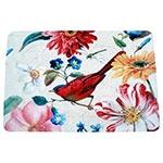 Jogo Americano Pássaro e Flores Coloridas em MDF - 30x40 cm