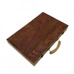 Jogo gamão c/ caixa de madeira