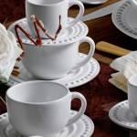 Jogo De Jantar Atenas Branco 30 Peças Em Cerâmica Compre