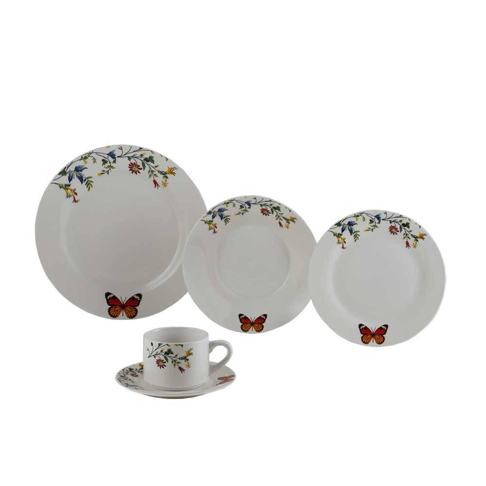 Jogo de Jantar Delicate - 20 Peças - em Porcelana - Lyor Classic - 27 cm