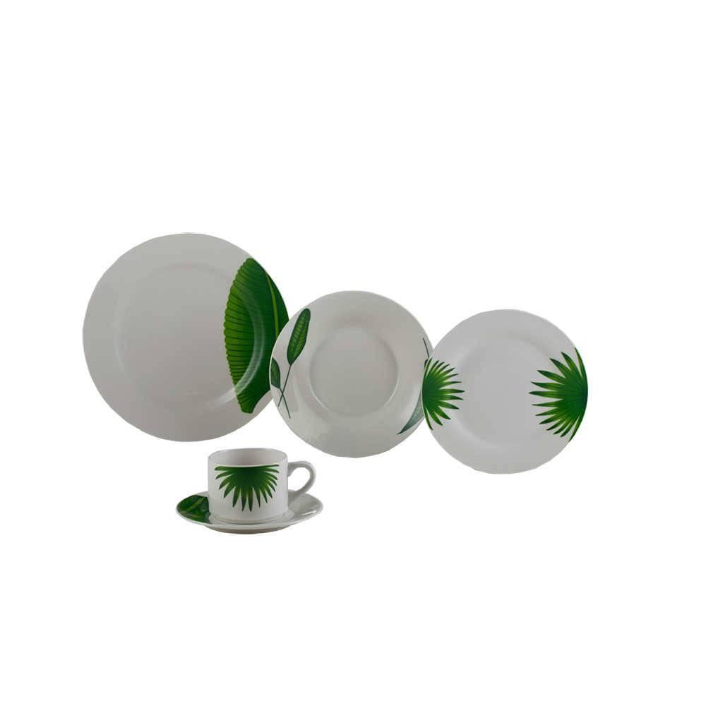 Jogo de Jantar Leaves - 20 Peças - em Porcelana - Lyor Classic - 27 cm
