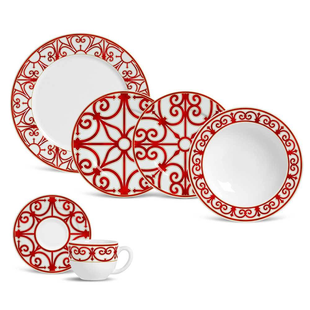 Jogo de Jantar Medieval - 20 Peças - em Cerâmica - Porto Brasil