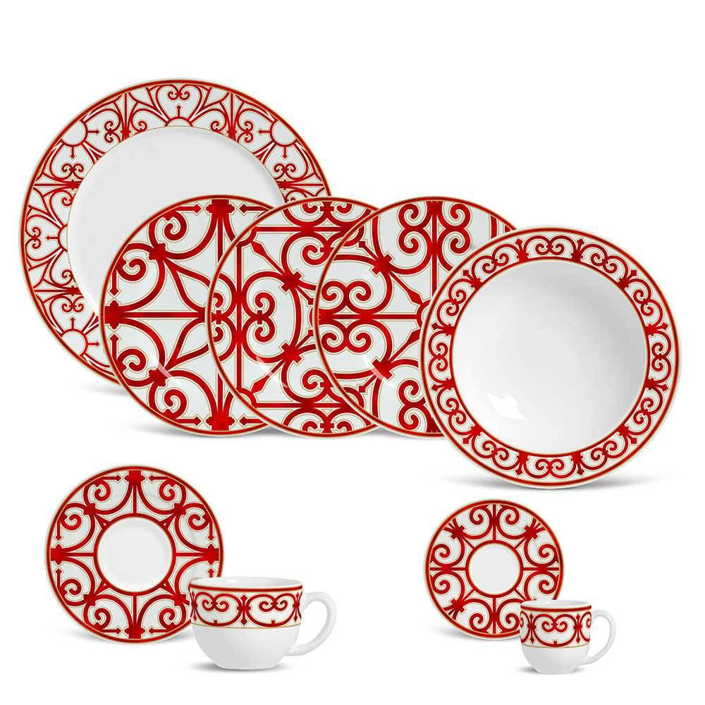 Jogo de Jantar Medieval - 42 Peças - em Cerâmica - Porto Brasil