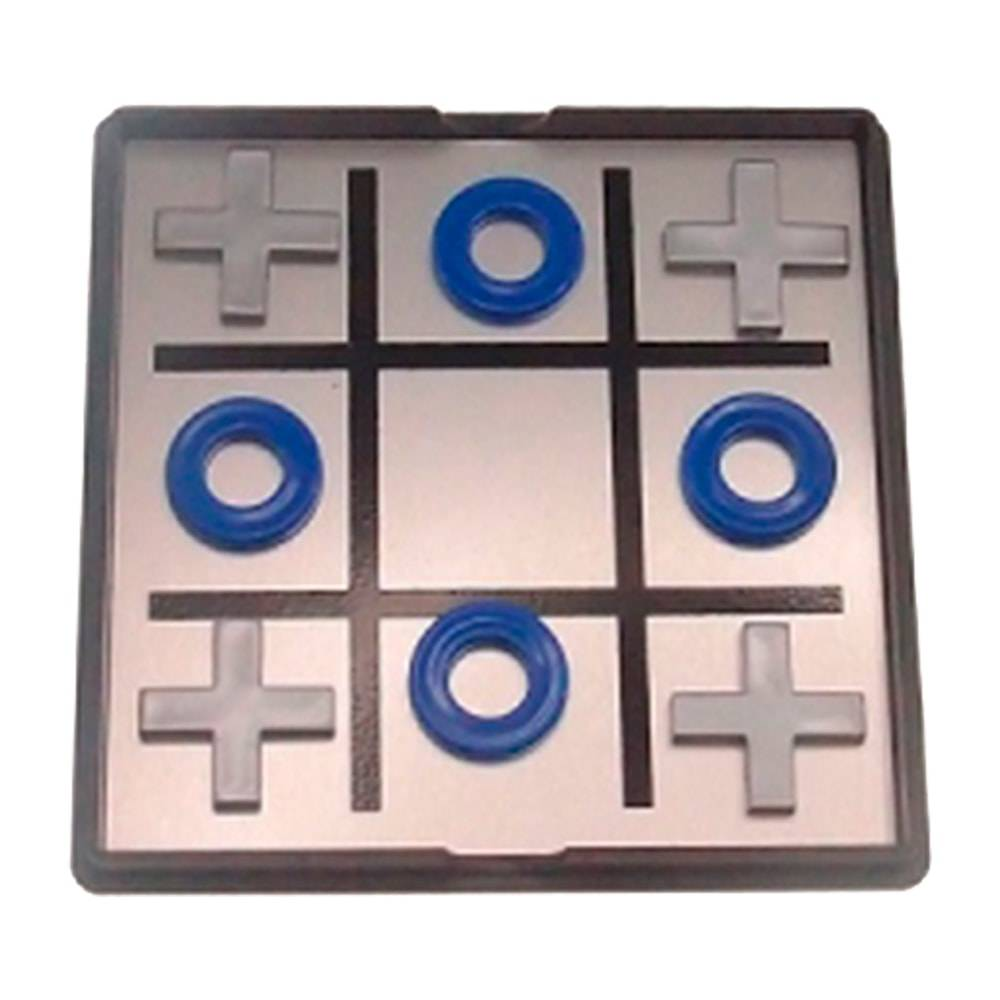 Jogo da Velha - com Peças Imantadas - em Metal - 10x10 cm