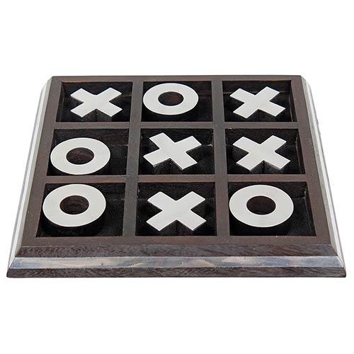 Jogo da Velha Preto/Inox Grande Oldway - 20x20cm