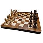 Jogo de Xadrez - Madeira Entalhada Indian Box - Oldway - 40x40 cm