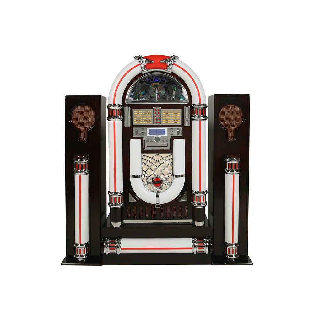 Jukebox com Alto Falante e Base em Madeira - 110V - com Luzes de Led - 140x128 cm