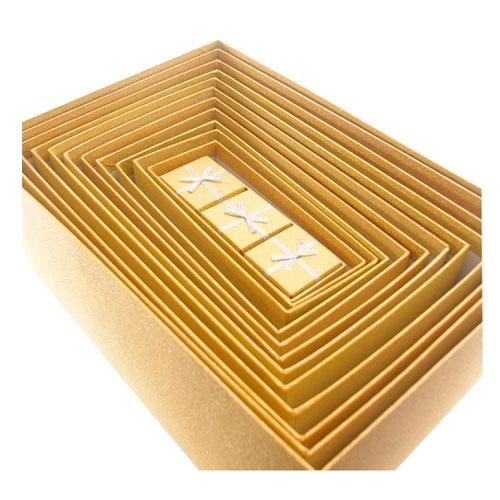 Kit 15 Caixas Douradas com Glitter - 34x24 cm